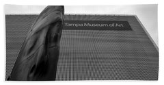 Beach Towel featuring the photograph Tampa Museum Of Art Work A by David Lee Thompson