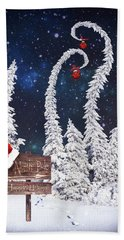 To The North Pole Beach Towel