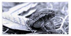 Toad Carefully Beach Towel by D Renee Wilson