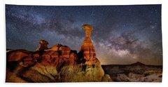 Toadstool Milky Way Beach Towel
