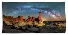 Toadstool Milky Way Pano Beach Towel