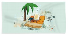 Beach Towel featuring the digital art Toasted Illustrated by Heather Applegate