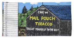 Beach Towel featuring the painting Pennsylvania Tobacco Barn by Jeffrey Koss