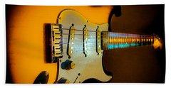 Tobacco Burst Stratocaster Glow Neck Series Beach Towel