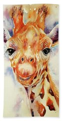 Toffee Giraffe Beach Towel