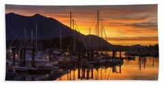 Tofino Docks Sunrise - A Tribute Beach Towel