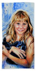 Beach Sheet featuring the painting Together Again by Hanne Lore Koehler