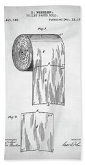 Toilet Paper Roll Patent Beach Towel by Taylan Apukovska