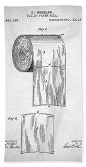 Toilet Paper Roll Patent Beach Sheet by Taylan Apukovska