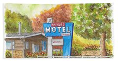 Toiyabe Motel In Walker, California Beach Sheet by Carlos G Groppa