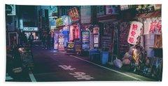 Tokyo Side Streets, Japan Beach Sheet