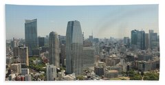 Tokyo Skyline Beach Towel by Jacob Reyes