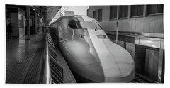 Tokyo To Kyoto Bullet Train, Japan 3 Beach Towel