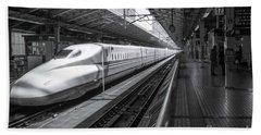Tokyo To Kyoto, Bullet Train, Japan Beach Towel