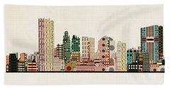 Toledo City Skyline Beach Towel