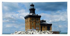 Beach Towel featuring the photograph Toledo Harbor Lighthouse by Michiale Schneider