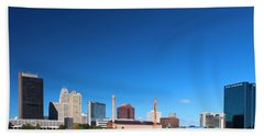 Beach Towel featuring the photograph Toledo Skyline I by Michiale Schneider