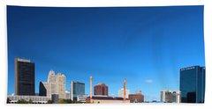 Beach Sheet featuring the photograph Toledo Skyline I by Michiale Schneider