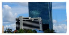Beach Towel featuring the photograph Toledo's Waterfront I by Michiale Schneider