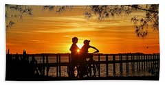 Beach Towel featuring the photograph Tom And Huck by HH Photography of Florida