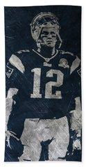 Tom Brady Patriots 4 Beach Towel by Joe Hamilton