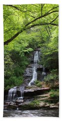 Tom Branch Falls - Gsmnp Beach Towel