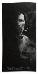 Tom Crean Antarctic Explorer - Dated Portrait Beach Towel