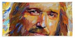 Tom Petty Tribute Portrait 1 Beach Sheet