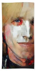 Tom Petty Tribute Portrait 3 Beach Towel