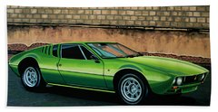 Tomaso Mangusta 1967 Painting Beach Towel