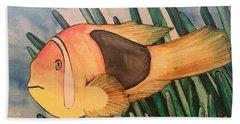 Tomato Clown Fish Beach Towel