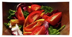 Tomato Salad Beach Towel