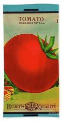 Tomato Seed Package Beach Towel