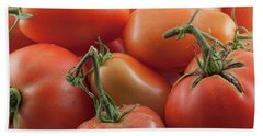 Beach Towel featuring the photograph Tomato Stems by James BO Insogna