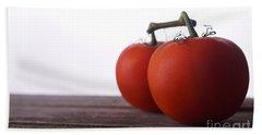 Tomatoes On A Vine Beach Towel