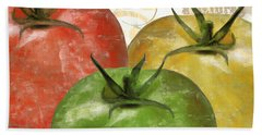 Tomatoes Tomates Beach Towel by Mindy Sommers