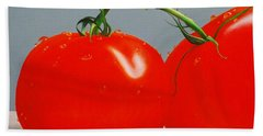 Tomatoes With Stems Beach Towel