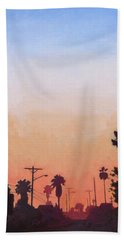 Beach Towel featuring the painting Tonal Hollywood by Andrew Danielsen