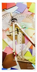 Tools Of Architectural Design Beach Towel