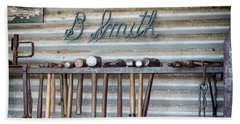 Beach Towel featuring the photograph Tools Of The Trade by Linda Lees
