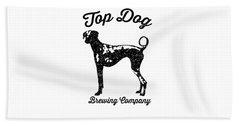 Top Dog Brewing Company Tee Beach Sheet by Edward Fielding