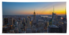 Top Of The Rock At Sunset Beach Towel