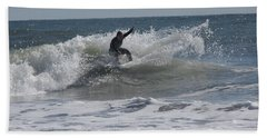 Beach Towel featuring the photograph Top Of The Wave by Greg Graham