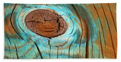 Topographical Knot Photograph Beach Sheet