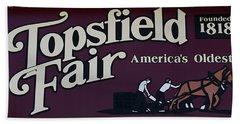Topsfield Fair 1818 Beach Towel
