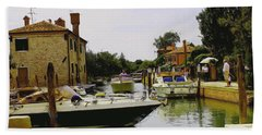 Beach Towel featuring the photograph Torcello Island by Cendrine Marrouat