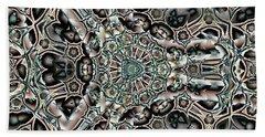 Torn Patterns Beach Sheet by Ron Bissett