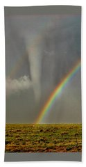 Tornado And The Rainbow II  Beach Towel