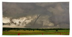 Beach Towel featuring the photograph Tornado At The Ranch by Ed Sweeney
