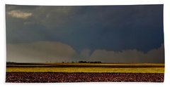 Beach Towel featuring the photograph Tornadoes Across The Fields by Ed Sweeney